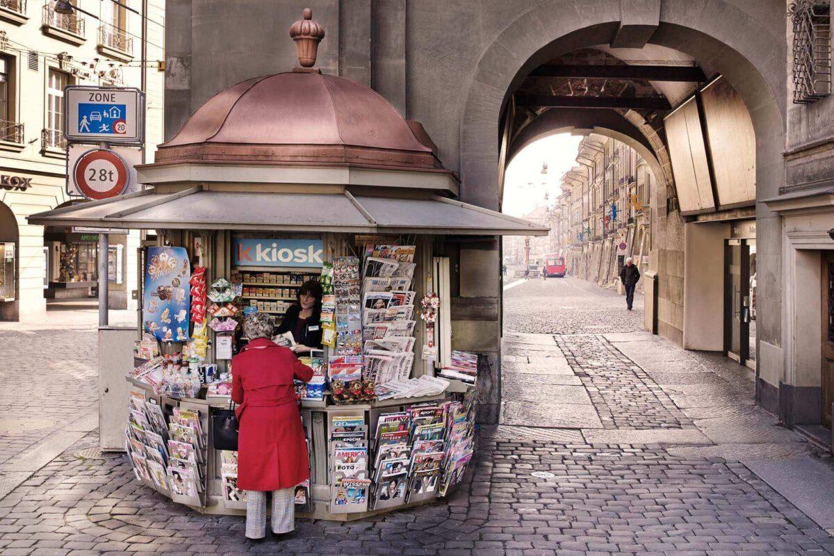 k kiosk, Zeitglockenturm, Zytglogge, Bern, Verkaufsstelle, Filialnetz