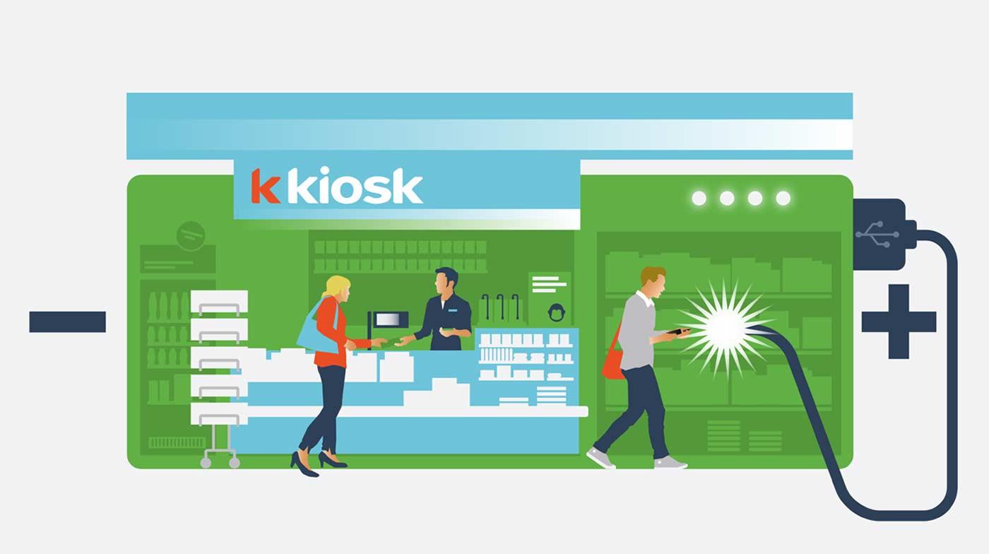 k kiosk, retail, Sonect, retrait d'espèces
