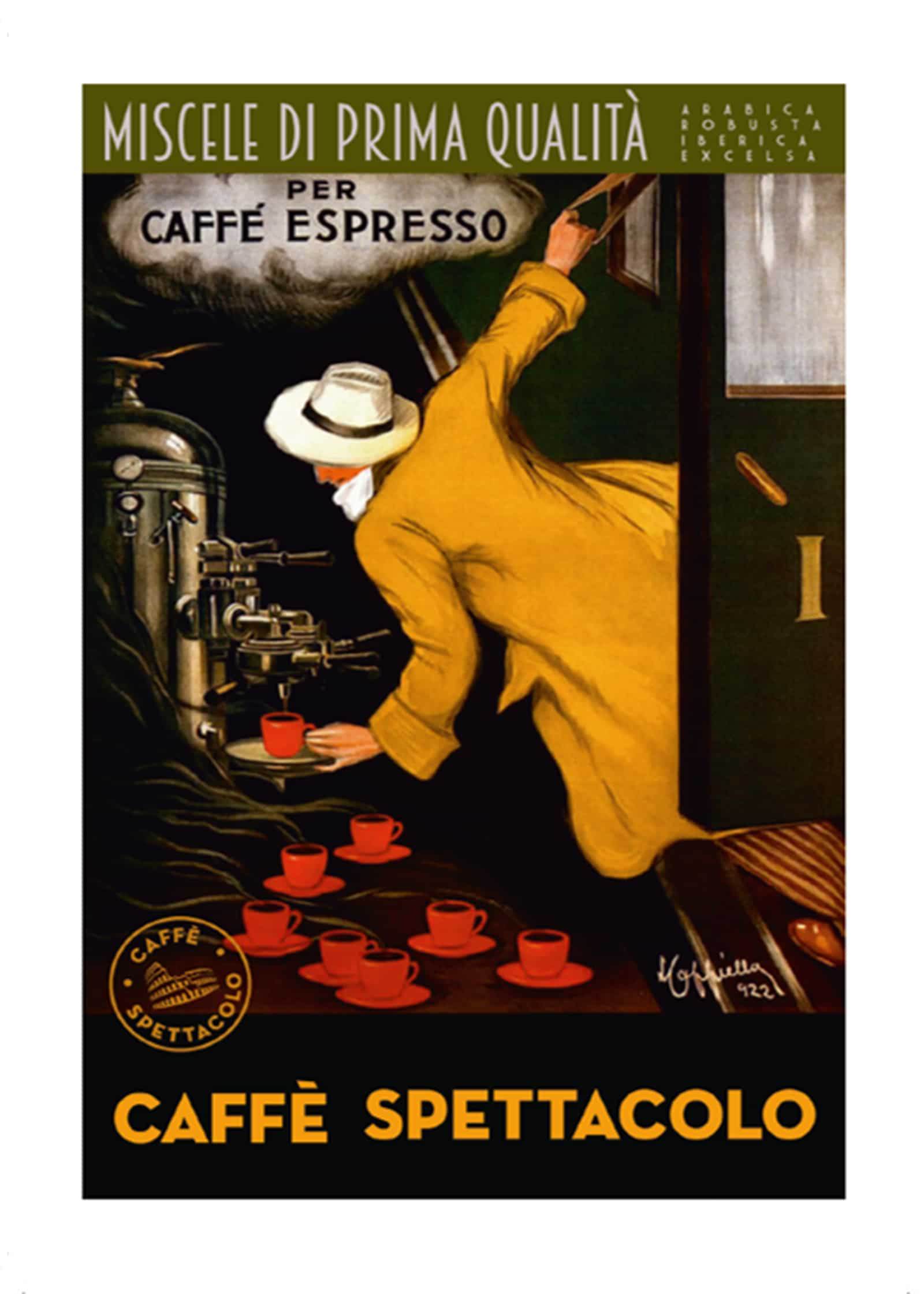 Anniversary promotion: Caffè Spettacolo thanks its guests with pre-paid postcards and a range of coffee vouchers.