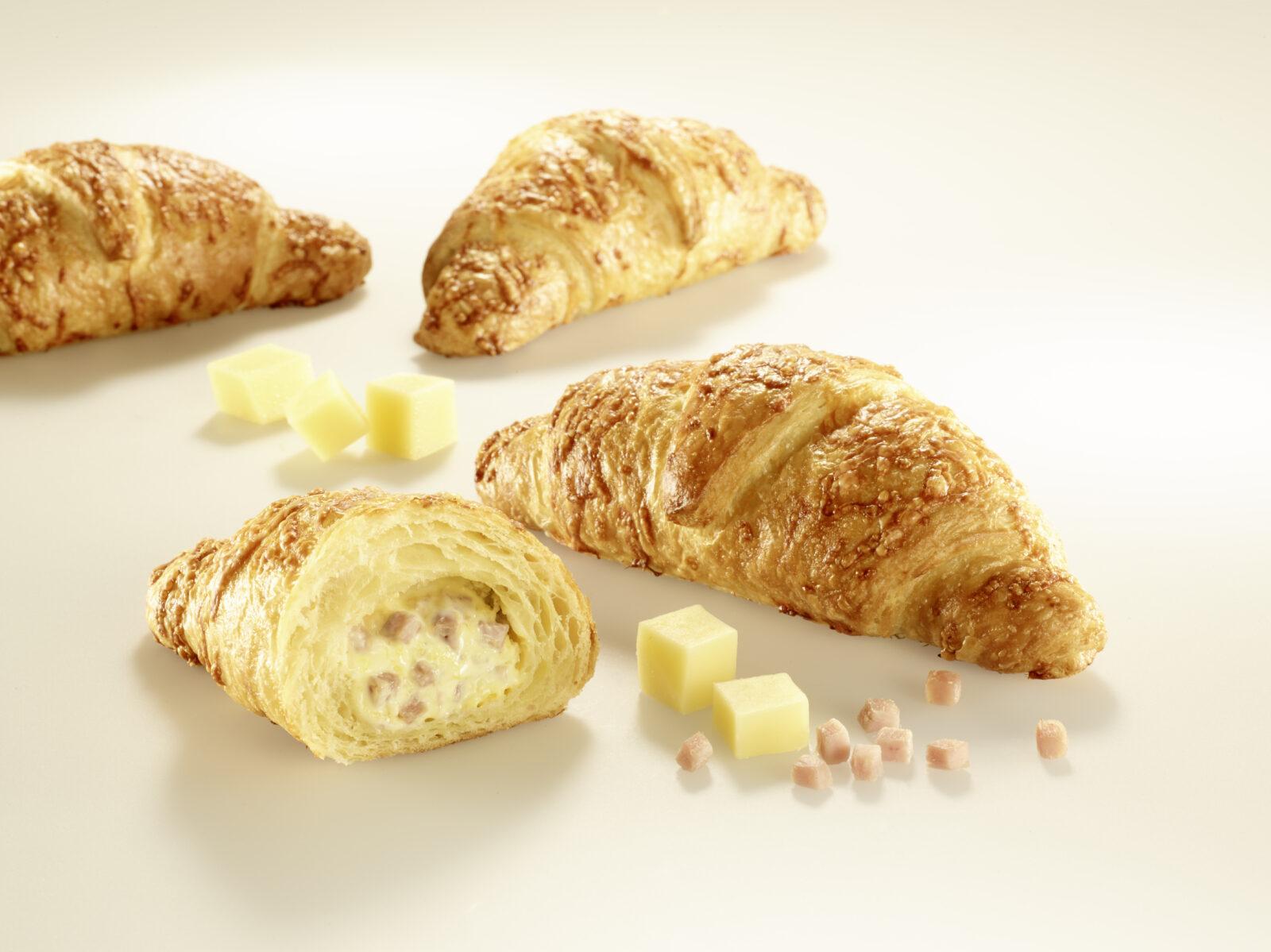 Schinken Kaese Croissant 100g gefuellt